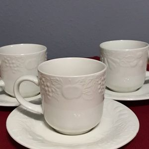Gibson Homegoods Set of 3 Cups and Coasters